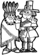 happy native and pilgrim