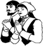 man and woman praying