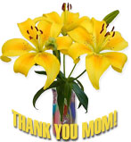 thank you mom with lilies