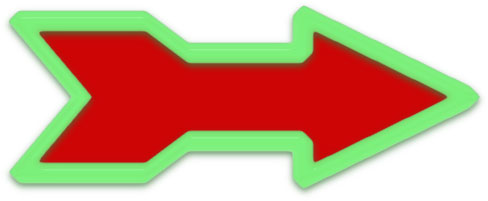large arrow clipart red and green