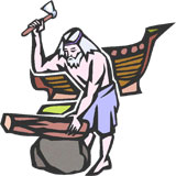 Noah Building Ark Clipart