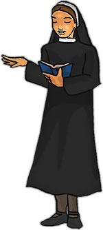 a nun reading