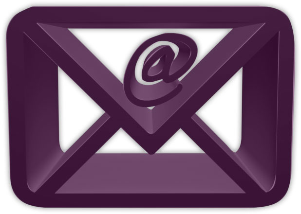 3D envelope purple