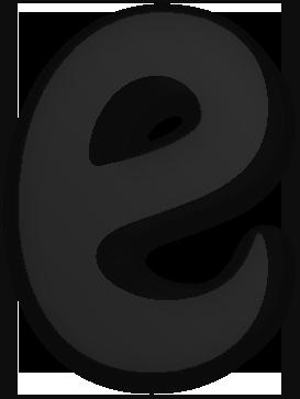 black e for email
