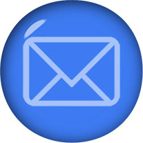 blue email button clipart with envelope
