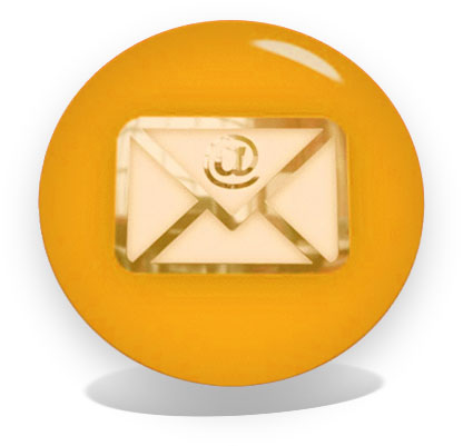 email button yellow with perspectine shadows