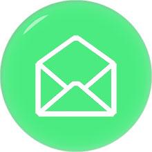 envelope email image white on green