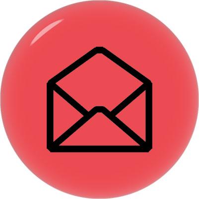 black on red envelope for email