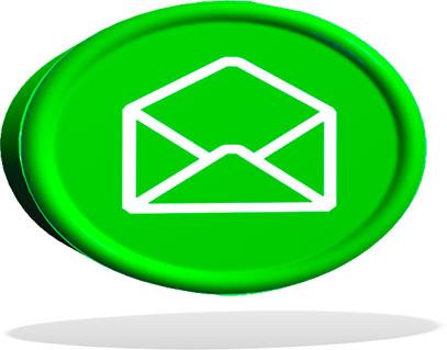 floating green envelope