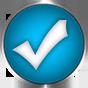 blue check icon