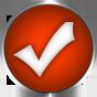 burnt orange round check icon