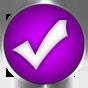 purple check icon round
