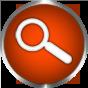 search icon burnt orange