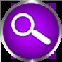 search icon purple round