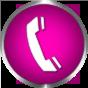 phone icon violet round