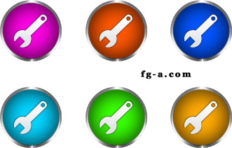 tool set of icons
