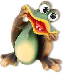 art deco frog big smile