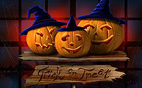 trick or treat halloween background image