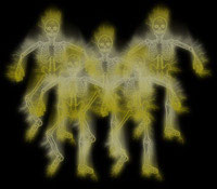 ghosts skeleton background