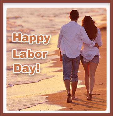 Labor Day beach couple