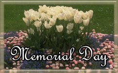Memorial Day with Flowers