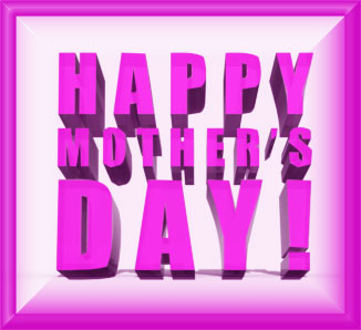 Happy Mother's Day sign 3D