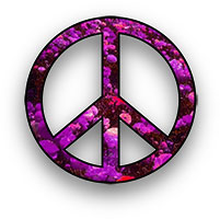 purple peace sign