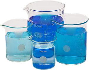 four beakers