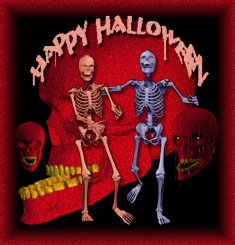 happy halloween skulls and skeletons