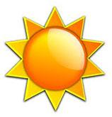 deep yellow sun