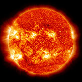 sun emitting flare
