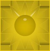sun yellow star
