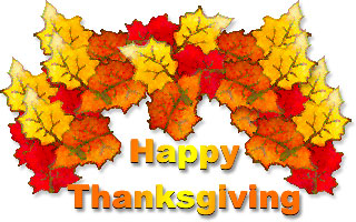 Clip Art Clipart Thanksgiving Free free thanksgiving clipart animations yellow red and golden autumn leaves with happy thanksgiving