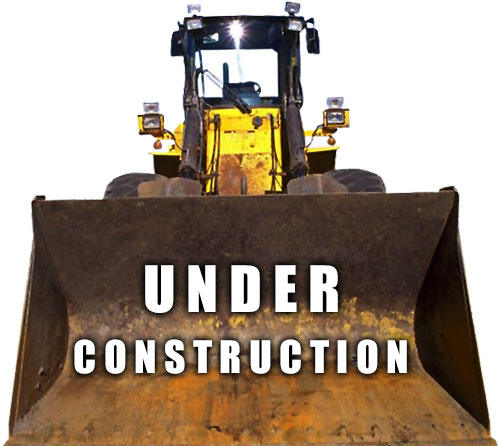 under construction front end loader