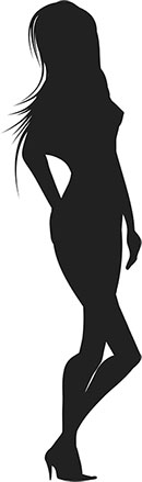 silhouette of a woman
